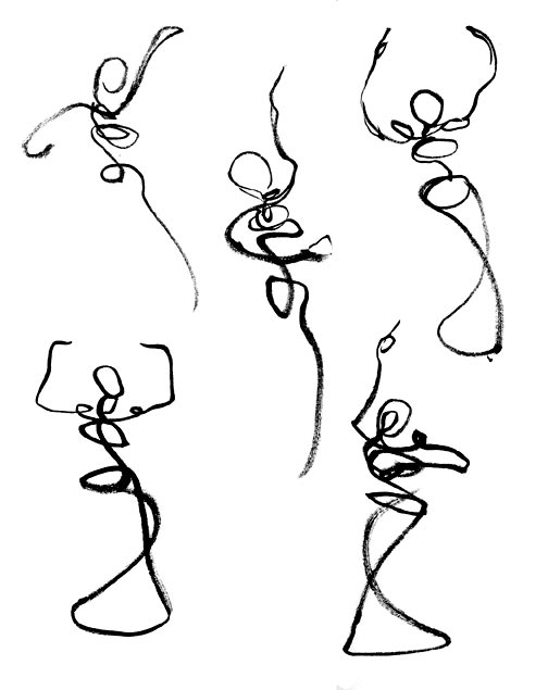Line Art Body : Dancing sketchcrawl ™