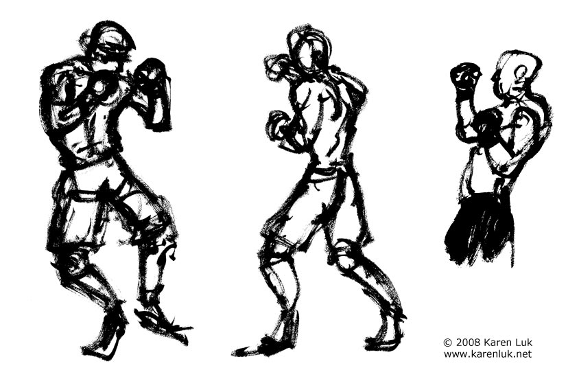 Here are some gesture drawings Ufc Drawings